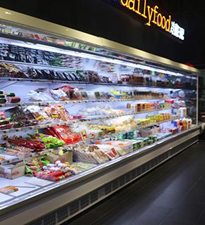 分体式超市直角款风幕柜